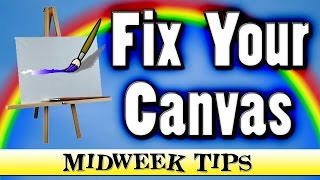 How To Reuse a Paint Canvas