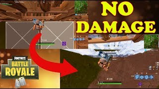 Fortnite Battle Royale: HOW TO NOT TAKE FALL DAMAGE! NEW TRICK (WORKING)