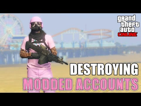 Destroying Modded Account Tryhards GTA 5 Online (Explosive bullet player)
