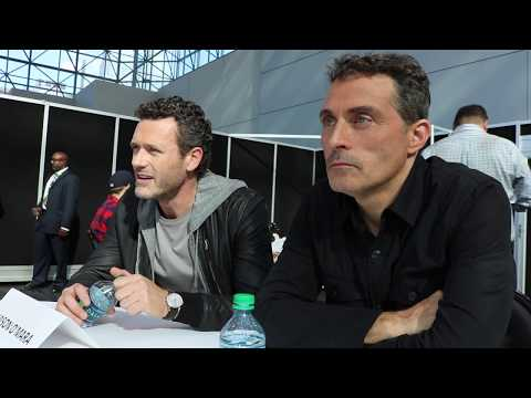Jason O'Mara Wyatt Price & Rufus Sewell John Smith discuss Man in the High Castle @ NYCC '17