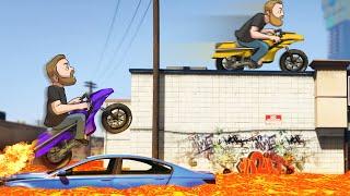 Floor Is Lava Race Across The Map! | GTA5