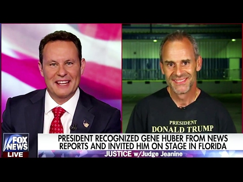 President Trump Recognized Gene Huber From News & Invited Him On Stage At Florida Rally, 2/18/17