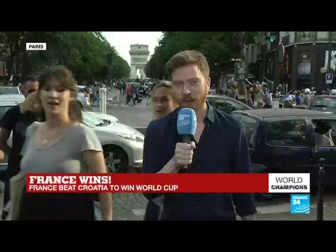 World Cup 2018: French celebrate victory in the Champs-Elysees