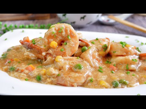 Super Easy Shrimp With Lobster Sauce 龙虾糊 Chinese Prawn Stir Fry Recipe | Chinese Food Recipe