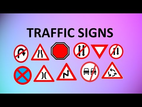 LEARN TRAFFIC SIGNS | ROAD SIGNS WITH...