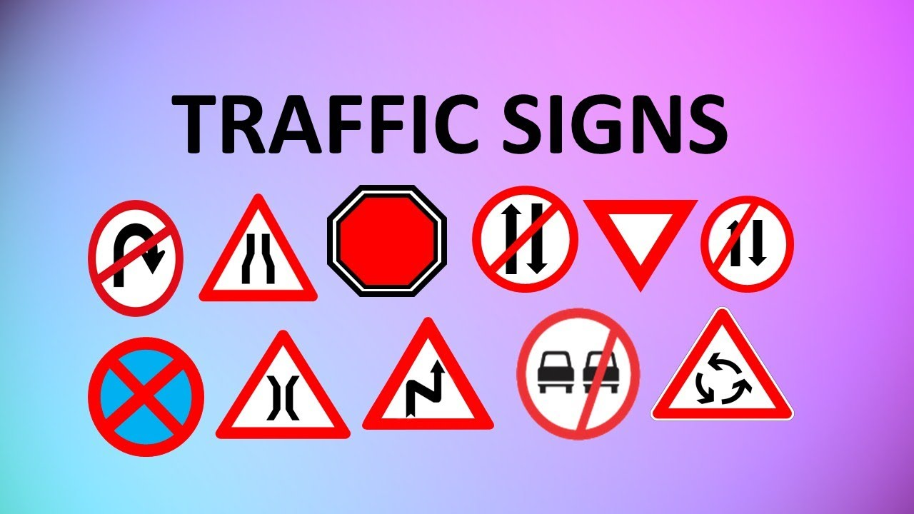 learn traffic signs road signs with meanings for kids