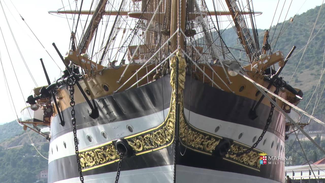 Marina Militare - Nave Amerigo Vespucci sosta a Dubrovnick - YouTube