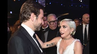 """Lady Gaga y Bradley Cooper MUY CARIÑOSOS tras película """"Ha Nacido Una Estrella (Star is Born)"""" Video"""