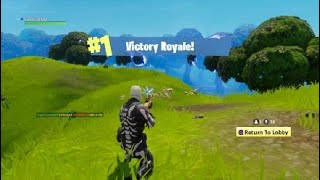 First Win on Fortnite as Skeleton skin!!!!! (5th solo Win)
