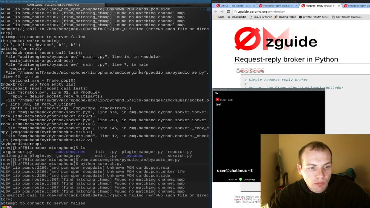 Python Network Programming using Zeromq