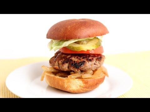Cheddar Stuffed Burger Recipe - Laura Vitale - Laura in the Kitchen Episode 789