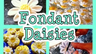 How To Make Fondant Daisies :: 2cupsofdelight