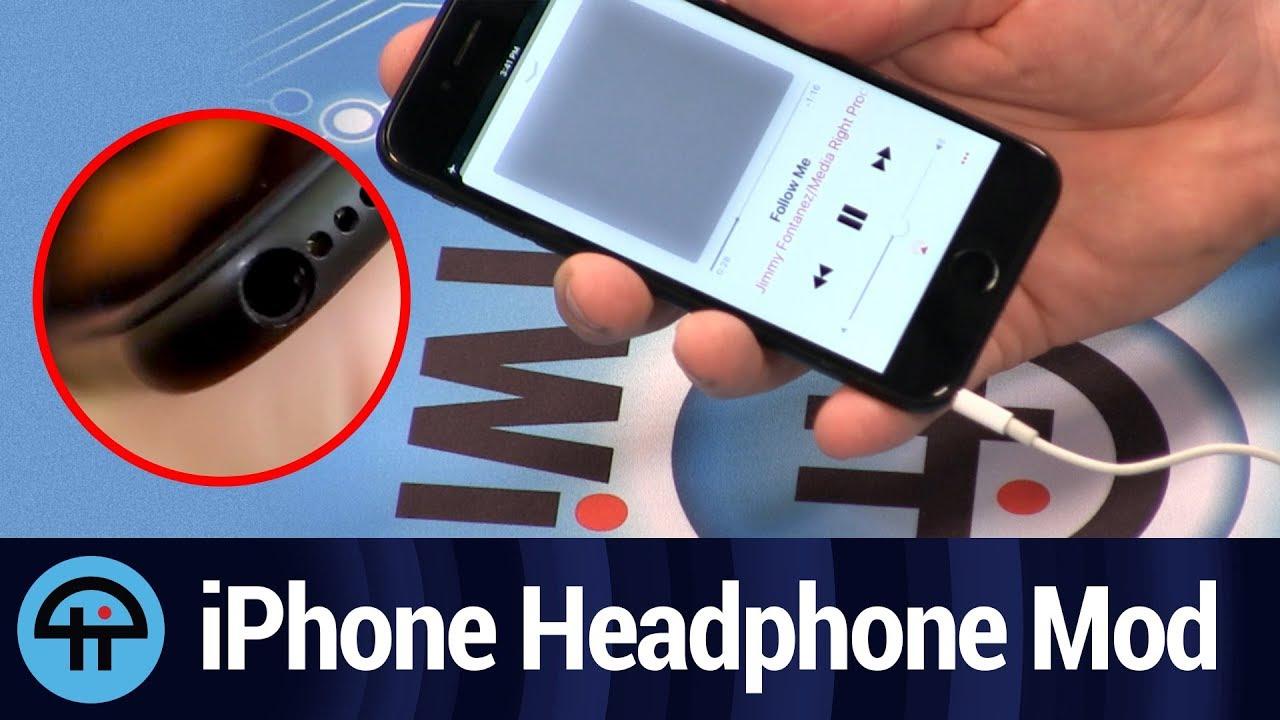 Maker Adds Working Headphone Jack To Iphone 7 Youtube Manufaturecircuit Board Parts Buy Circuit Partscircuit