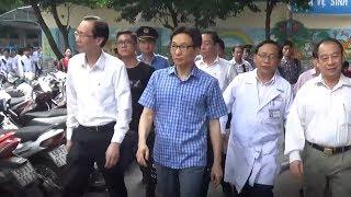 Phó Thủ tướng Chính phủ Vũ Đức Đam thị sát bệnh tay chân miệng, sởi