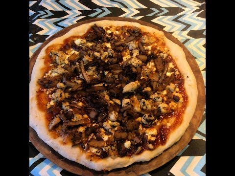 BBQ Bacon Chicken with Balsamic Onions and Feta Cheese Pizza