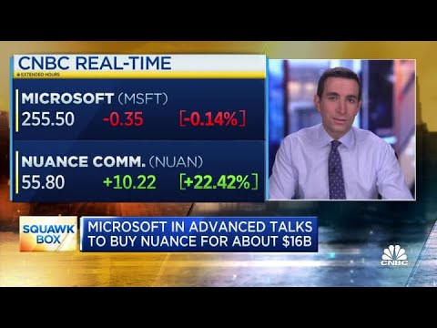 Microsoft in advanced talks to buy Nuance for about $16 bill