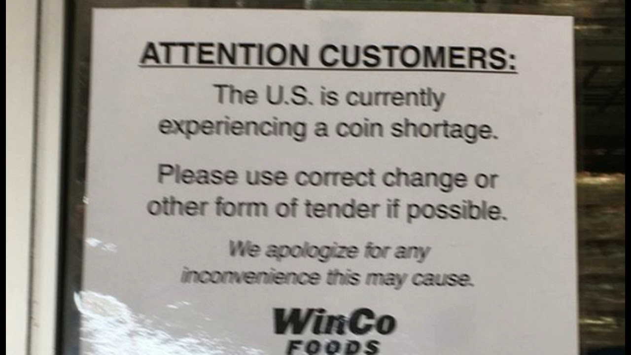 Massive US Coin Supply Shortage Happening, Federal Reserve Stopped Shipments