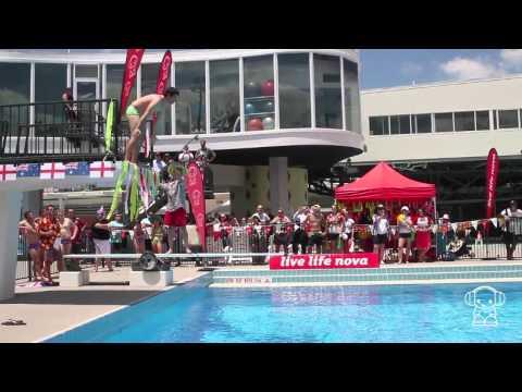 The Splashes: Australia vs England bellyflop championships!