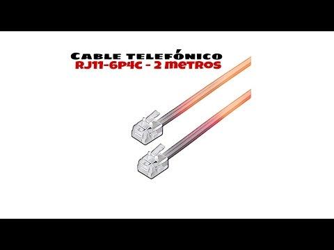 Video de Cable de telefono RJ11 6P4C M-M 2 M Beige