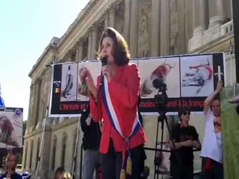 Manifestation anti-corrida - 28 mai Paris par Alain Groetzinger.wmv