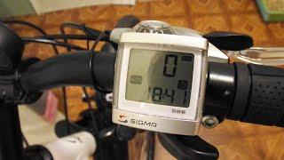 Сигма ВС506 на велосипеді.