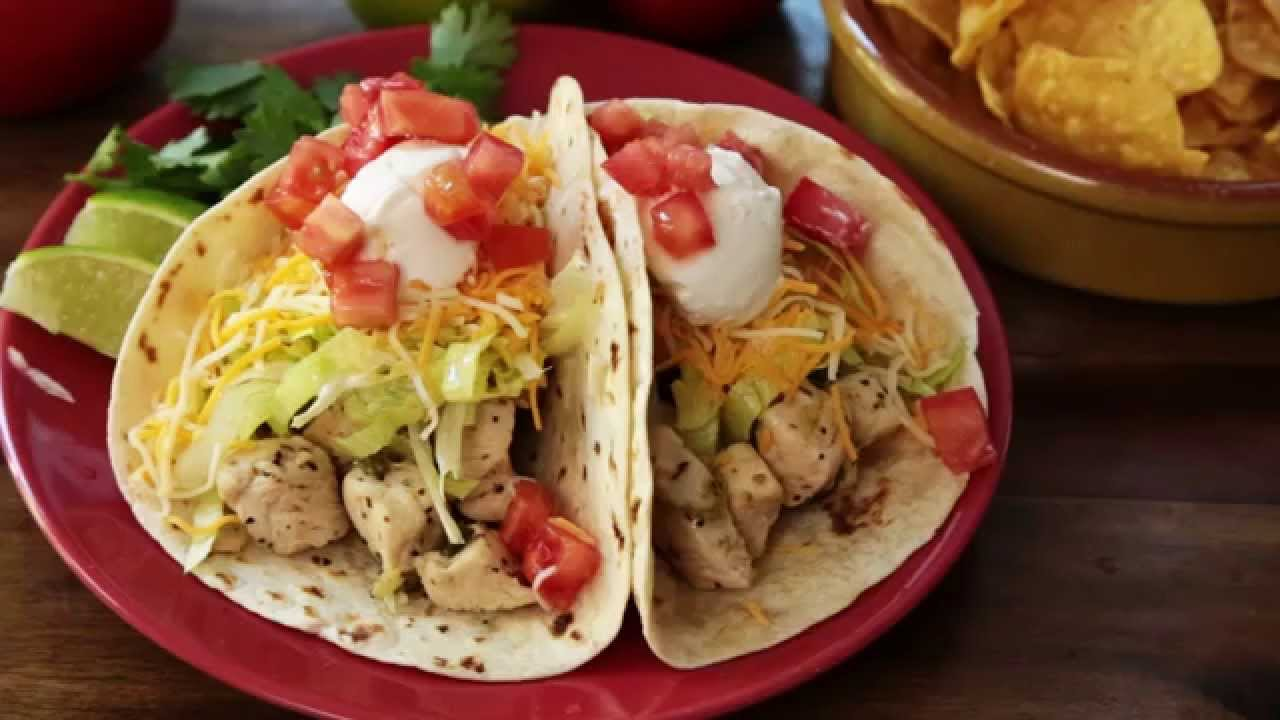 Chicken Recipes - How to Make Chicken Soft Tacos - YouTube