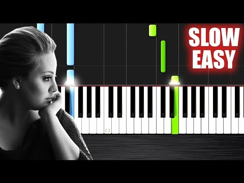 Adele  Someone Like You  SLOW EASY Piano Tutorial  PlutaX