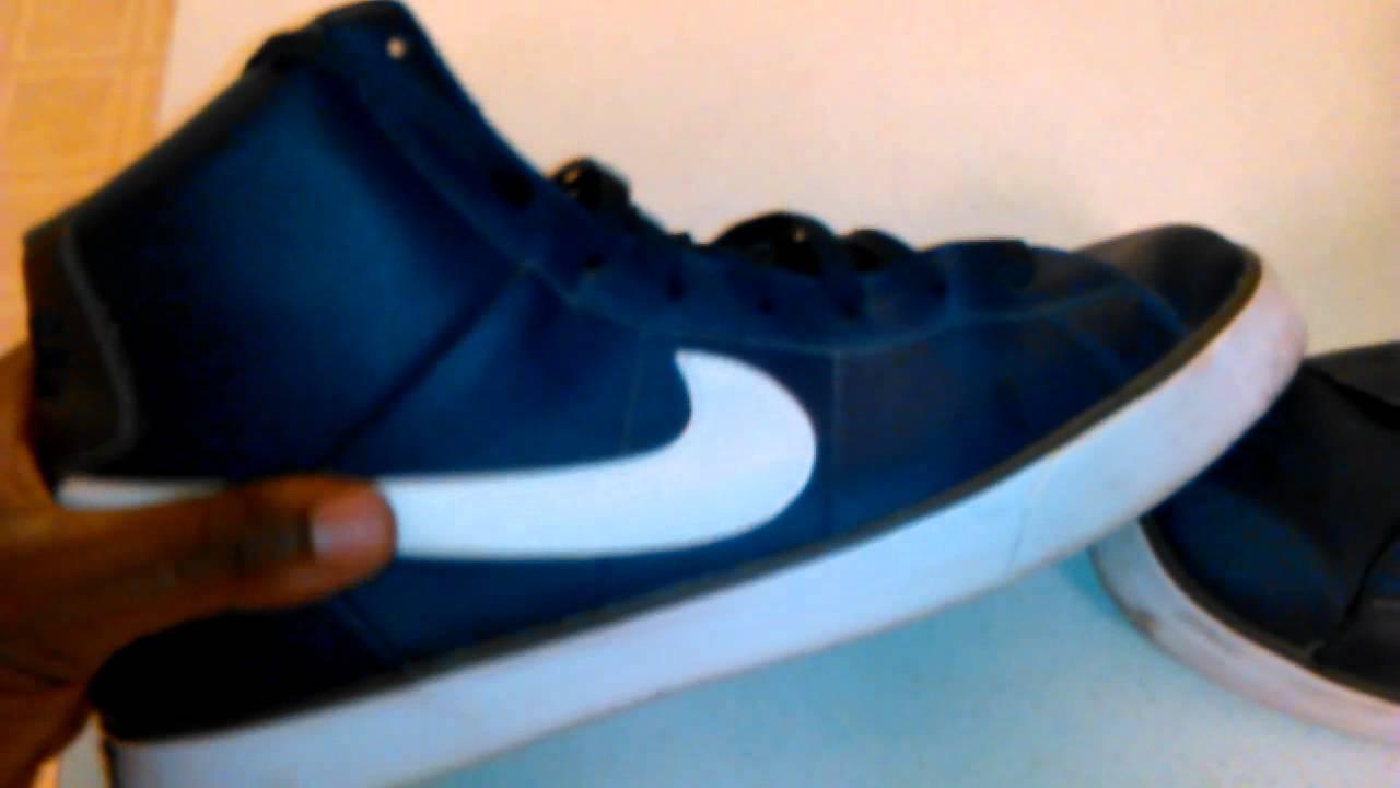 b487d7e51997 Nike Match Supreme Blue   White High Tops - YouTube
