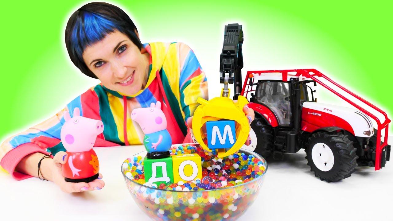 Свинка Пеппа строит ДОМ - Красный трактор и новое видео Капуки Кануки - Давай почитаем