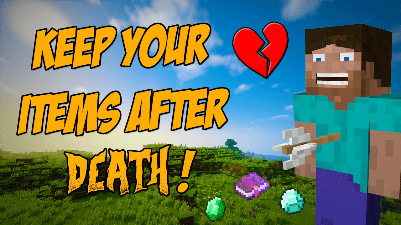 keep inventory after death minecraft