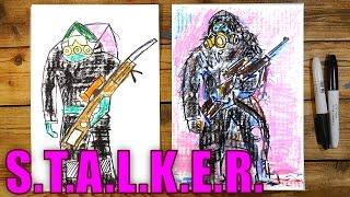 Рисуем Сталкера из S.T.A.L.K.E.R.(Ваня любит видео игру Сталкер и мы решили сделать серию рисунков и роликов на тему Сталкера. Мы рисуем на..., 2016-01-26T14:25:44.000Z)