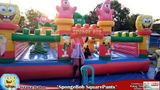 Asik & Seru Sekali Bermain di Istana Balon SpongeBob SquarePants, Odong-Odong Mainan  Song Lily
