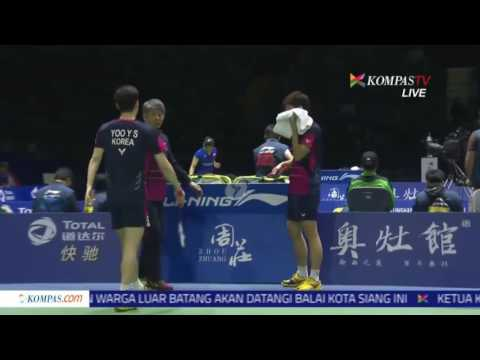 ♛ 2016 Thomas Cup M Ahsan Hendra Setiawan (INA) vs Lee Yong Dae Yoo Yeon Seong (KOR) | Sem