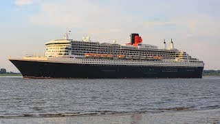 RMS Queen Mary 2 outbound Hamburg - 4K/UHD
