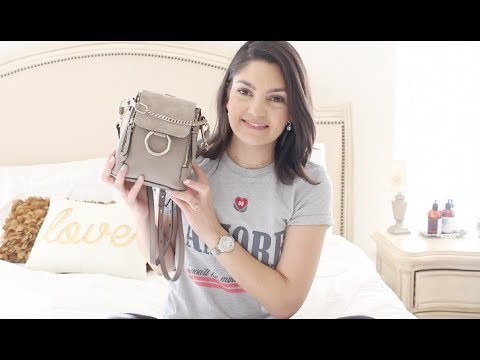 chloe faye mini backpack review what fits inside youtube. Black Bedroom Furniture Sets. Home Design Ideas