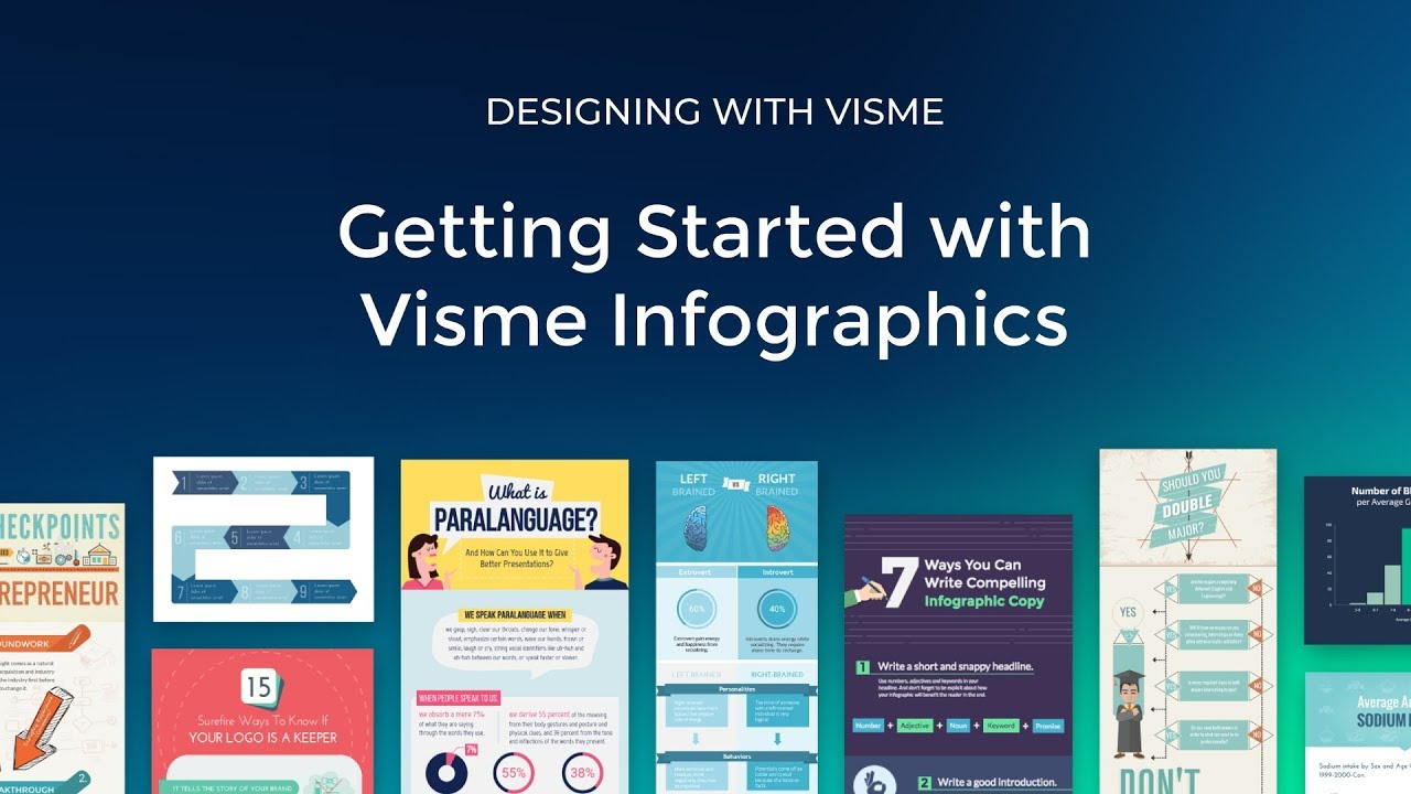 Getting started with Visme Infographics - A short video on ...
