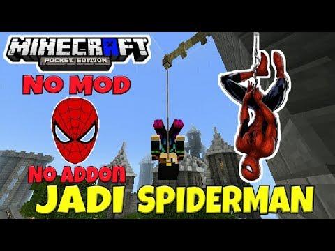 Trik Menjadi Spiderman Di Mcpe No Mod - Tutorial