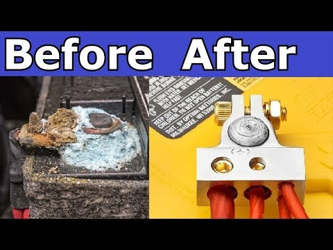 How to replace  a corroded battery cable terminal