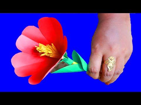 How To Make DIY Hibiscus crepe paper Flower | China Rose origami Craft Idea