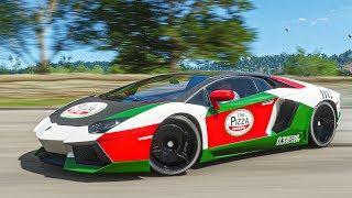 เปลี่ยนแลมโบเป็นรถส่งพิซซ่า (Forza Horizon 4 Lamborghini Aventador Pizza Delivery)