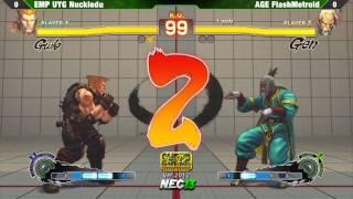 SSF4 AE2012 Top 8 EMP UYG Nuckledu vs AGE FlashMetroid - NEC13 Tournament