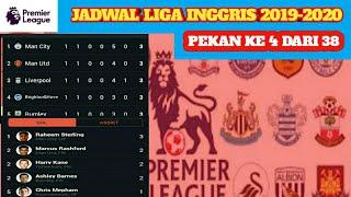 JADWAL LIGA INGGRIS PEKAN 4 TAHUN 2019-2020 | ENGLISH PREMIER LEAGUE 2019-2020