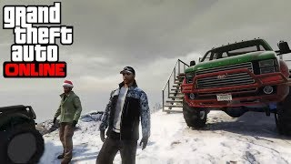 Grand Theft Auto 5 - Snowy Off-Roading On Mt. Chiliad   With Ethan, Josh & Oscar