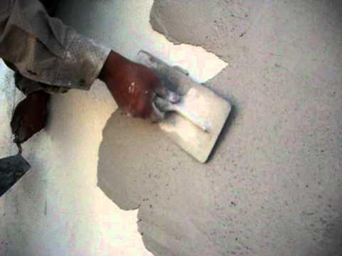 Aplicacion aislante termico sombra de arbol en pared 1 - Aplicacion de microcemento en paredes ...