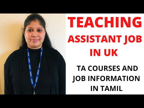 TEACHING ASSISTANT| SUPPORT STAFF| SEN SUPPORT JOB IN SCHOOL |UK |LONDON | COURSES INFORMATION TAMIL