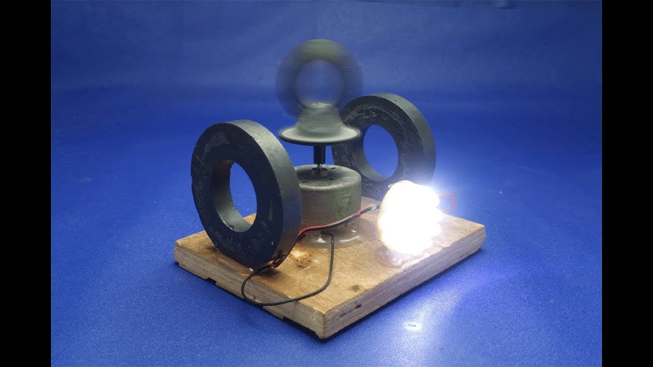 How To Make Free Energy Light Bulbs Generator With Magnets