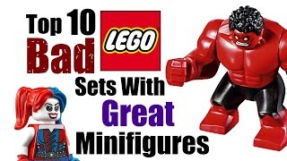 Top 10 Bad LEGO Sets With Great Minifigures!
