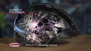 Scorpion EXO EXO-C110 Mariposa Motorcycle Half Helmet Overview