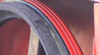Urethane V-Belts for Band Mill Blade Wheels