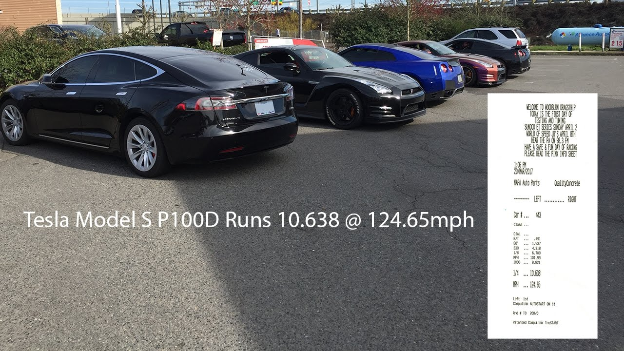 Tesla 1/4 mile time